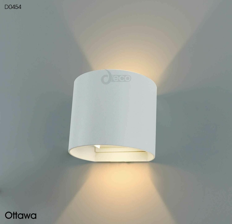 Ottawa Up & Downward Wall Light 2x3W LED 3000K, Sand White IP54
