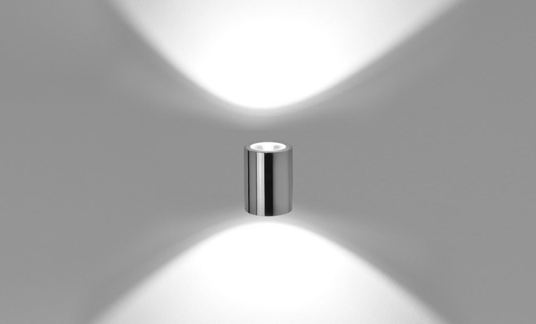 Up & Downward Wall light TECH MEDIUM STEEL ROUND 02 LED 2x12W