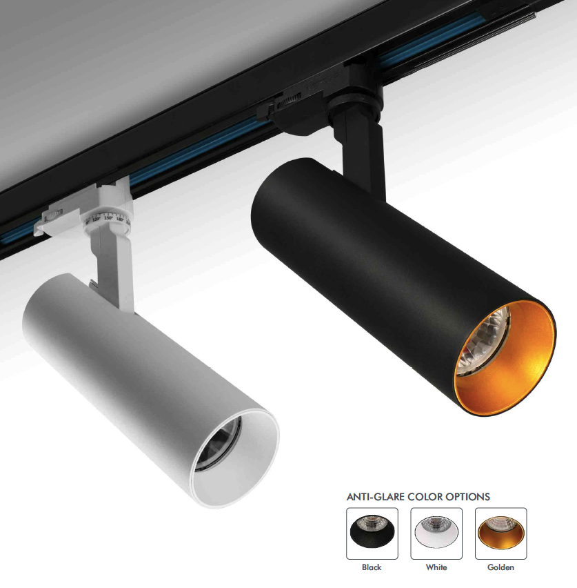 track I orientable track light 15 Watt 3phase DALI dimmable