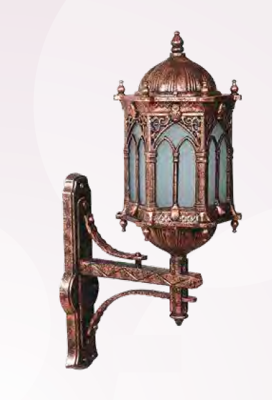 Outdoor wall lamp FENERLERI 1xE27 copper antique