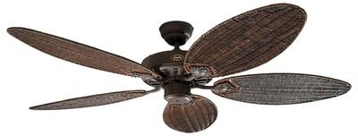 Classic Royal 132 BA wicker ceiling fan by CASAFAN Ø132cm with Pull Chain