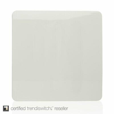 Trendi, Artistic Modern 1 Gang Blanking Plate Gloss White Finish, BRITISH MADE, 5yrs warranty