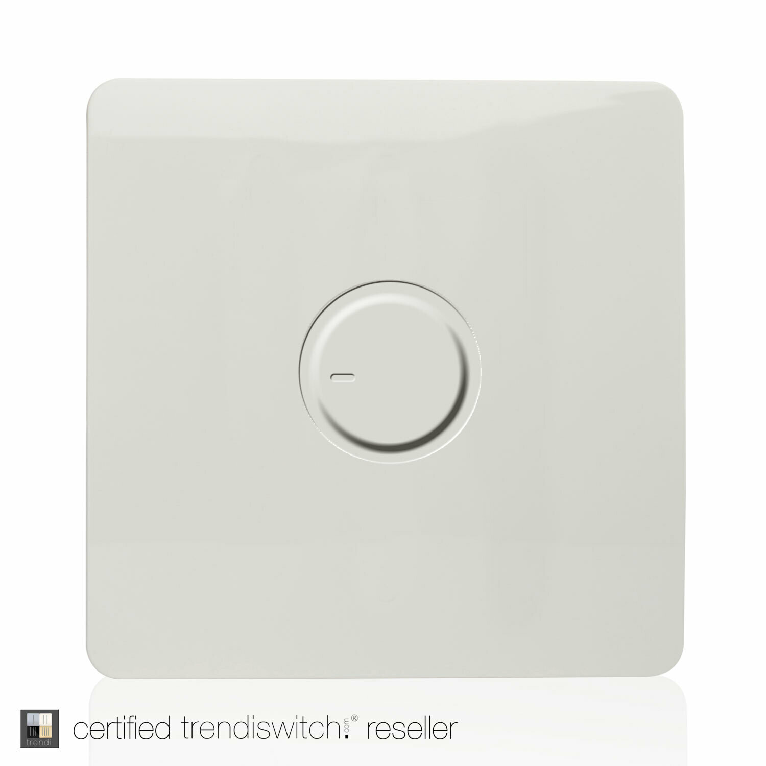 Trendi, Artistic Modern 1 Gang Fan Speed Controller Gloss White Finish, BRITISH MADE, 5yrs warranty