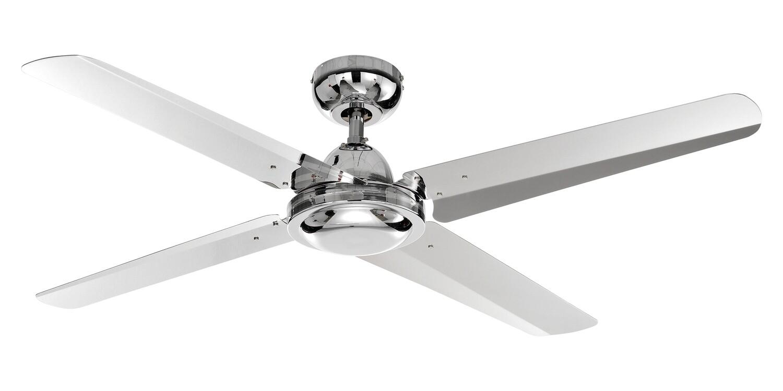 ELENA 4 chrome ceiling fan by ROSSINI Ø122 Wall control included