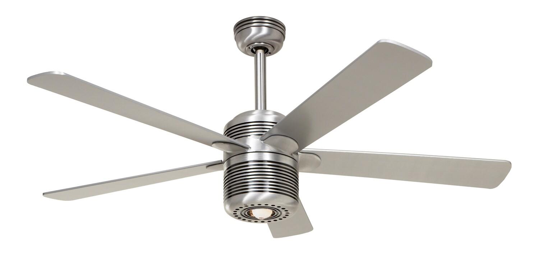 ALU AL ceiling fan with light by CASAFAN Ø132 with pull chain