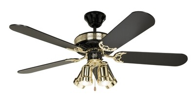 BLACK MAGIC ceiling fan with light by CASAFAN Ø132 with pull chain