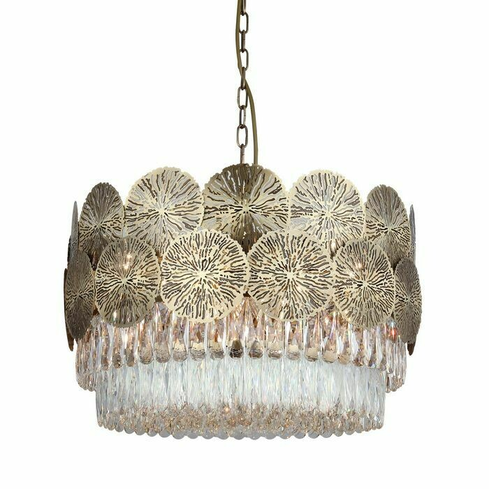 MARGARET Ø60 24 LIGHT CHANDELIER ANTIQUE BRASS 24xE14