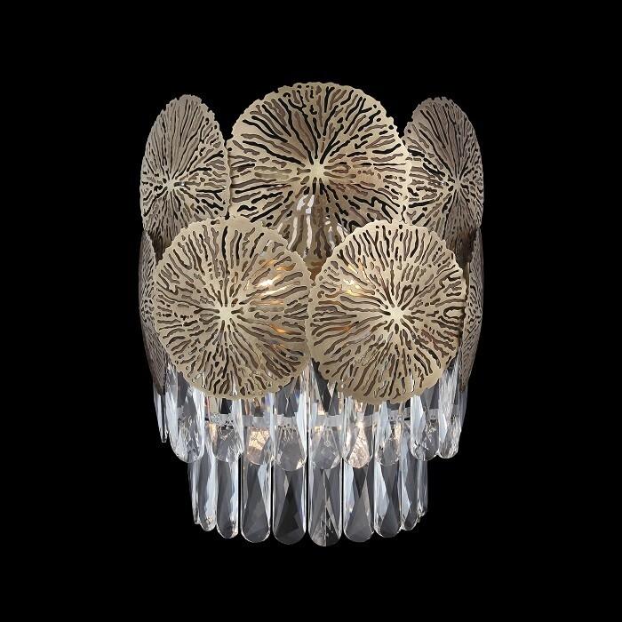 MARGARET 4 LIGHT WALL LAMP ANTIQUE BRASS 3xE14