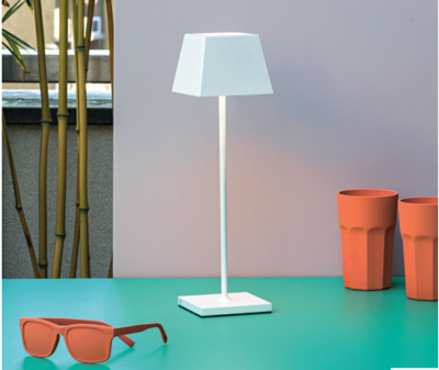 SIESTA LED table lamp white (2700K), portable and rechargeable