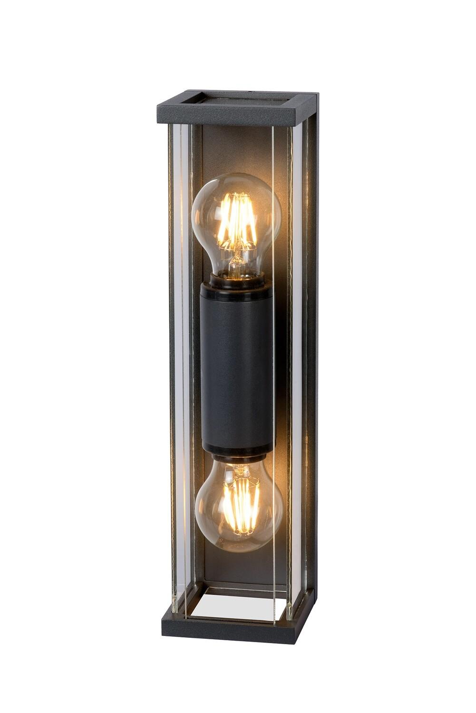 Meribel Outdoor Wall Lamp 2 x E27, IP54, Graphite