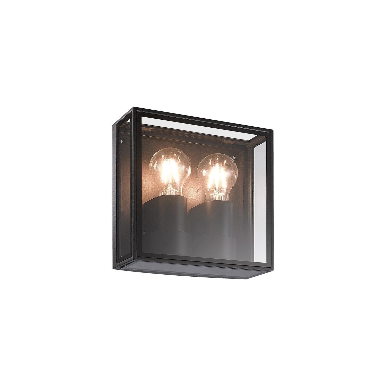 Verbier Vertical Wall Lamp, 2 x E27, IP65, Dark Grey