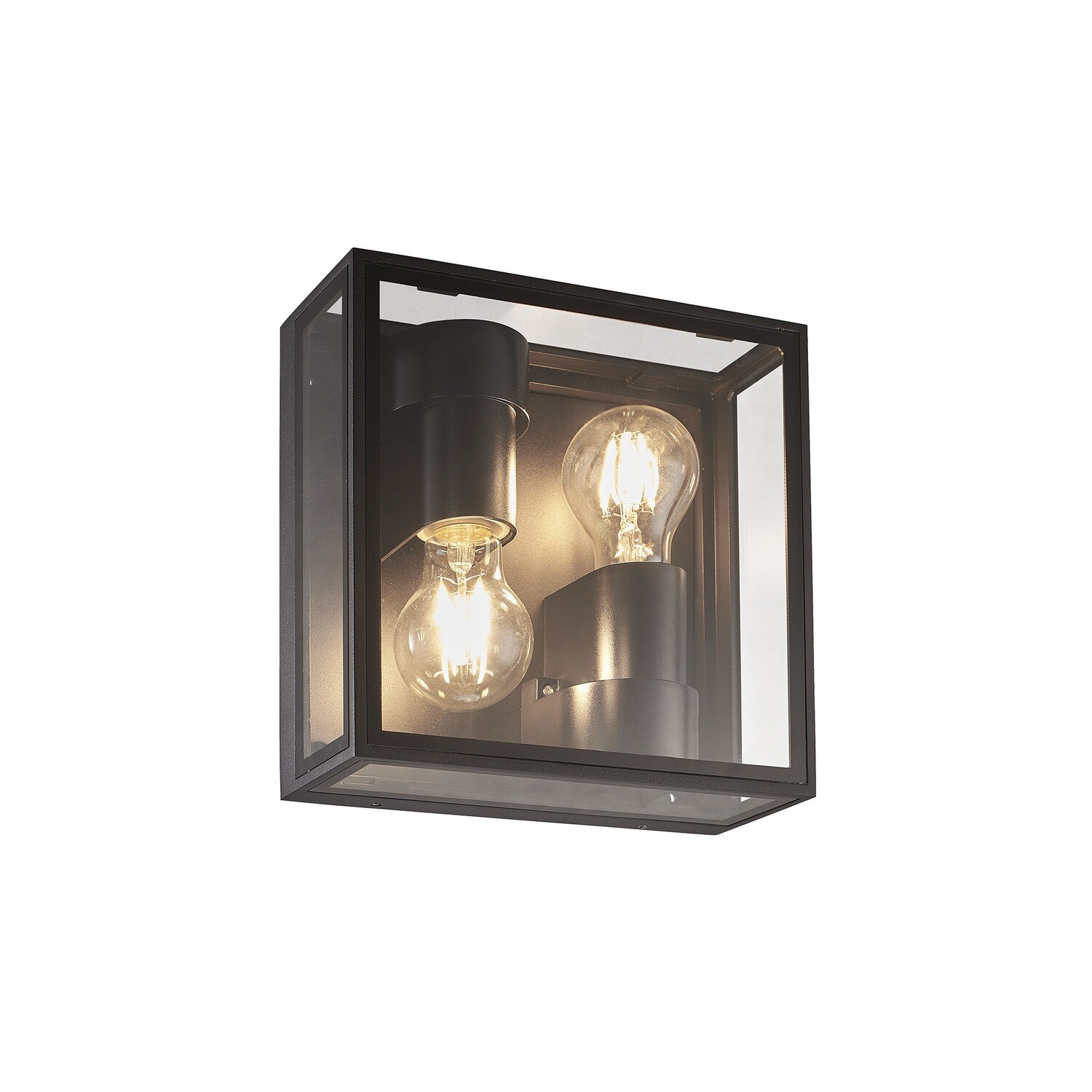 Verbier Up/Down Ceiling/Wall Lamp, 2 x E27, IP65, Dark Grey