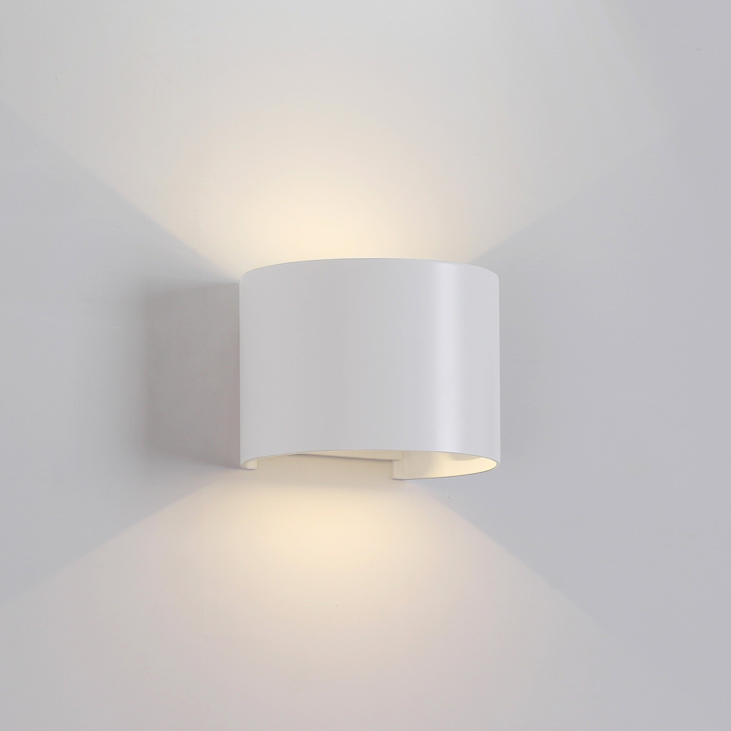 Davos Wall Lamp cylinder, 12W LED, 3000K, 1100lm, IP54, Sand White