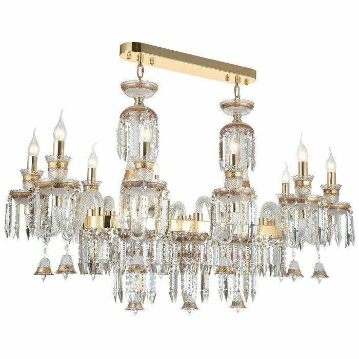 BETINA 10 LIGHT LONG CHANDELIER GOLD COLOR 10xE14