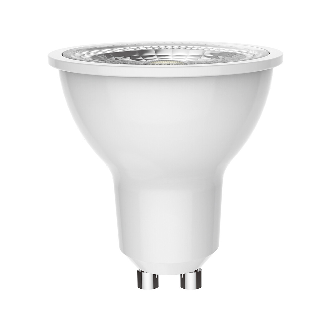 GU10-LED 6W beam 38º 6400K (cool white)  350lm DIMMABLE