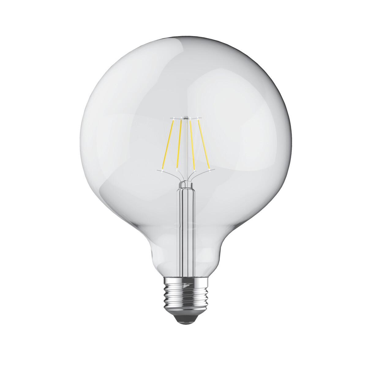 PACK OF 6 E27-LED filament Globe D125 8W 2700K (warm white) 806lm clear