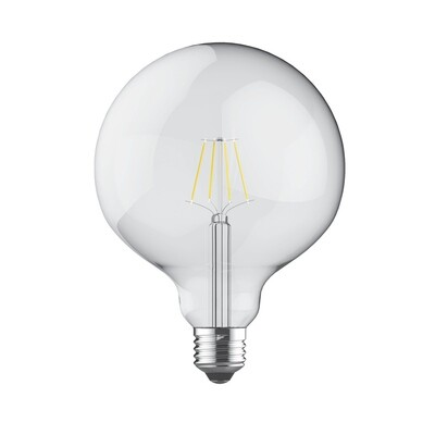 PACK OF 6 E27-LED filament Globe D125 8W 2700K (warm white) 806lm clear