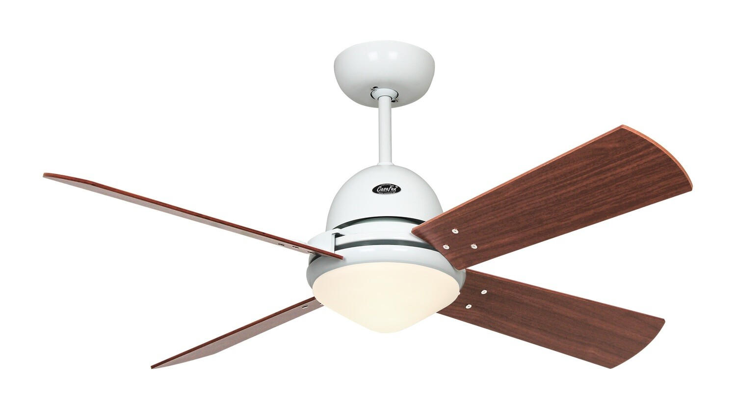 LIBECCIO ceiling fan by CASAFAN Ø120/142 with light kit and remote control included - white base with interchangeable blades