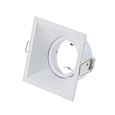 ARO square tiltable Spot FRAME WHITE for LED GU10 light-source