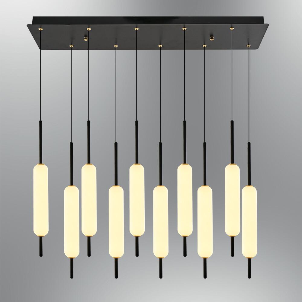 Trottola 10 lights linear base  pendant luminaire LED 100W 3000K Black