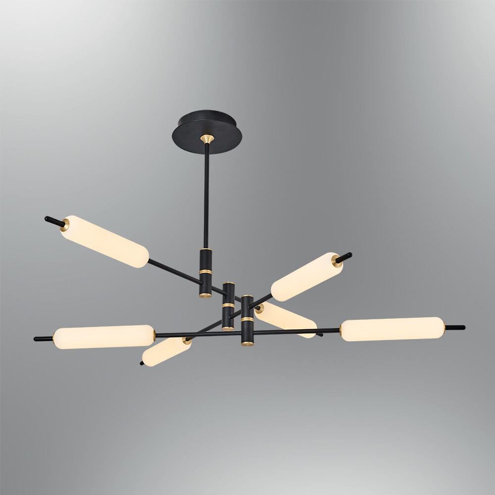 Trottola 6 lights ceiling luminaire LED 60W 3000K Black