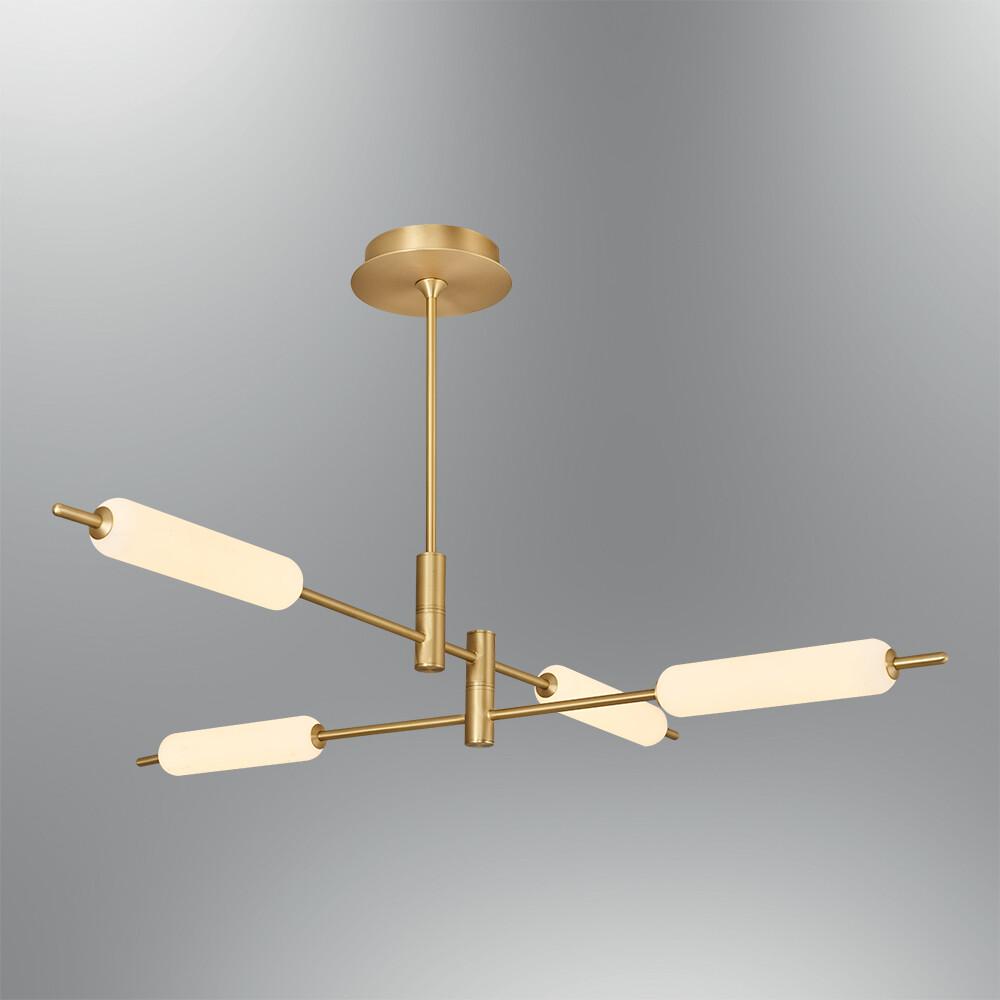 Trottola 4 lights ceiling luminaire LED 40W 3000K Antique brass
