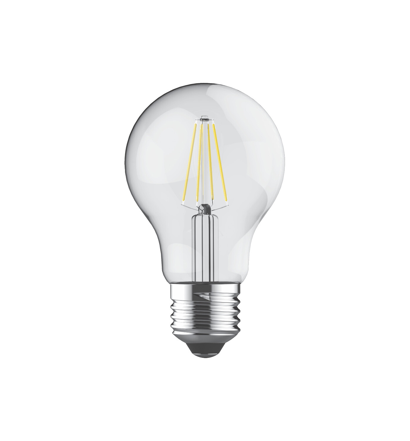 E27-LED filament-A60 6.5 Watt 2700K (warm white) 806lm clear DIMMABLE