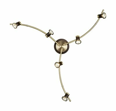 Massive 6 LIGHT SPOT FITTING IN ANTIQUE BRASS