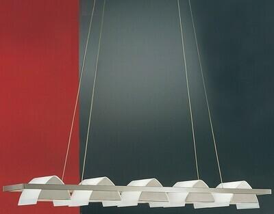 EGLO 5x Pendant Glass Brushed Iron VARESE
