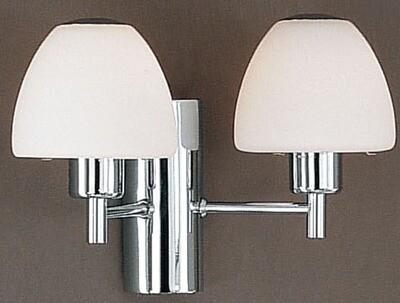 EGLO Asscot 2xG9 2 Arm Wall Light w/Opal Glass Shade