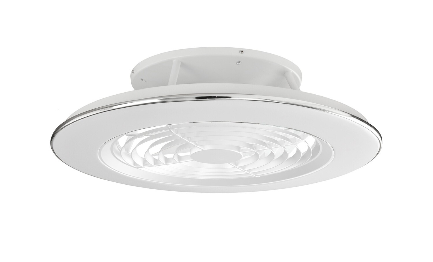 Alisio 70W LED Dimmable Ceiling Light With Built-In 35W DC Reversible Fan, White Finish c/w Remote Control and APP Control
