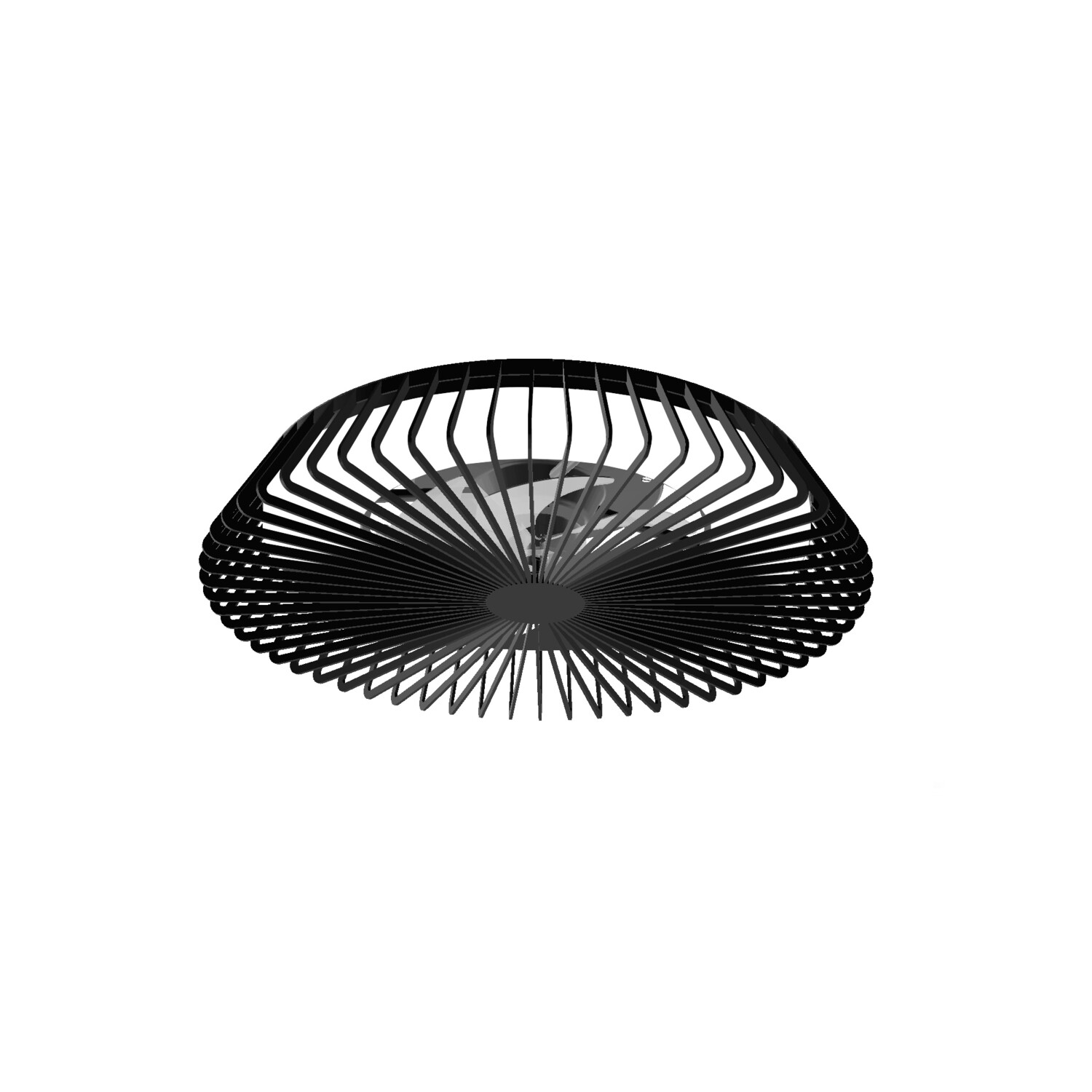 Himalaya 70W LED Dimmable Ceiling Light With Built-In 30W DC Fan, c/w Remote Control and APP Control, 3000lm, Black, 5yrs Warranty