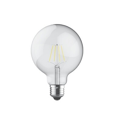 PACK OF 6 E27-LED filament Globe D95 8W 2700K (warm white) 806lm clear