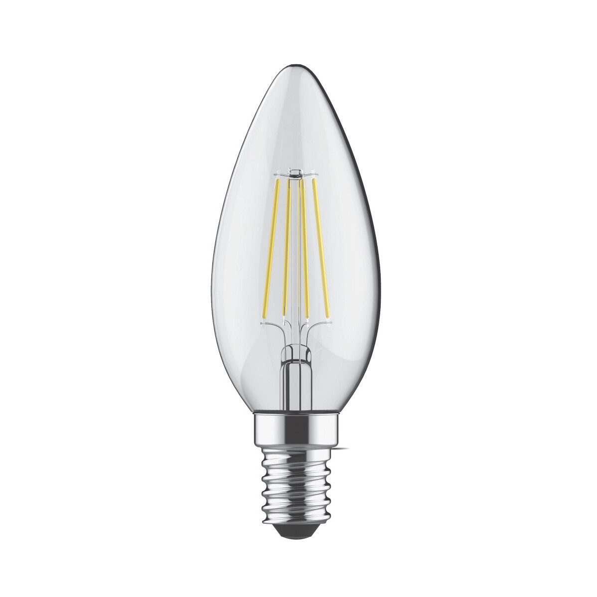 E14-LED filament-C35 5.5 Watt 2700K (warm white) 600lm clear DIMMABLE