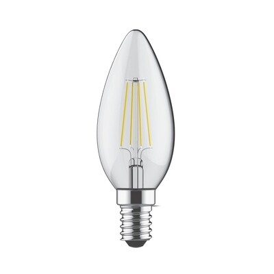 E14-LED filament-C35 4 Watt 2700K (warm white) 470lm clear