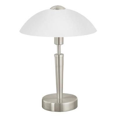 EGLO SOLO 1xE14 diam. 260x350mm Table Lamp/Satin Nickel