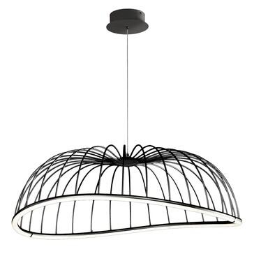 Celeste Pendant 81cm Round, 40W LED, 3000K, 2800lm, Black