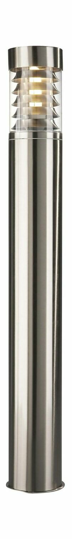 Birmingham Pedestal/Post Lamp 1 Light E27 IP44 Exterior Stainless Steel/Synthetic