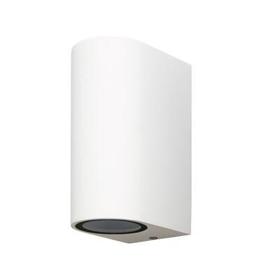 Kandanchu round Outdoor Wall Lamp up&down light, 2 x GU10, IP54, Sand White