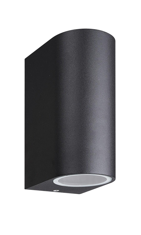Kandanchu Round Wall Lamp up&down light, 2 x GU10, IP54, Sand Black