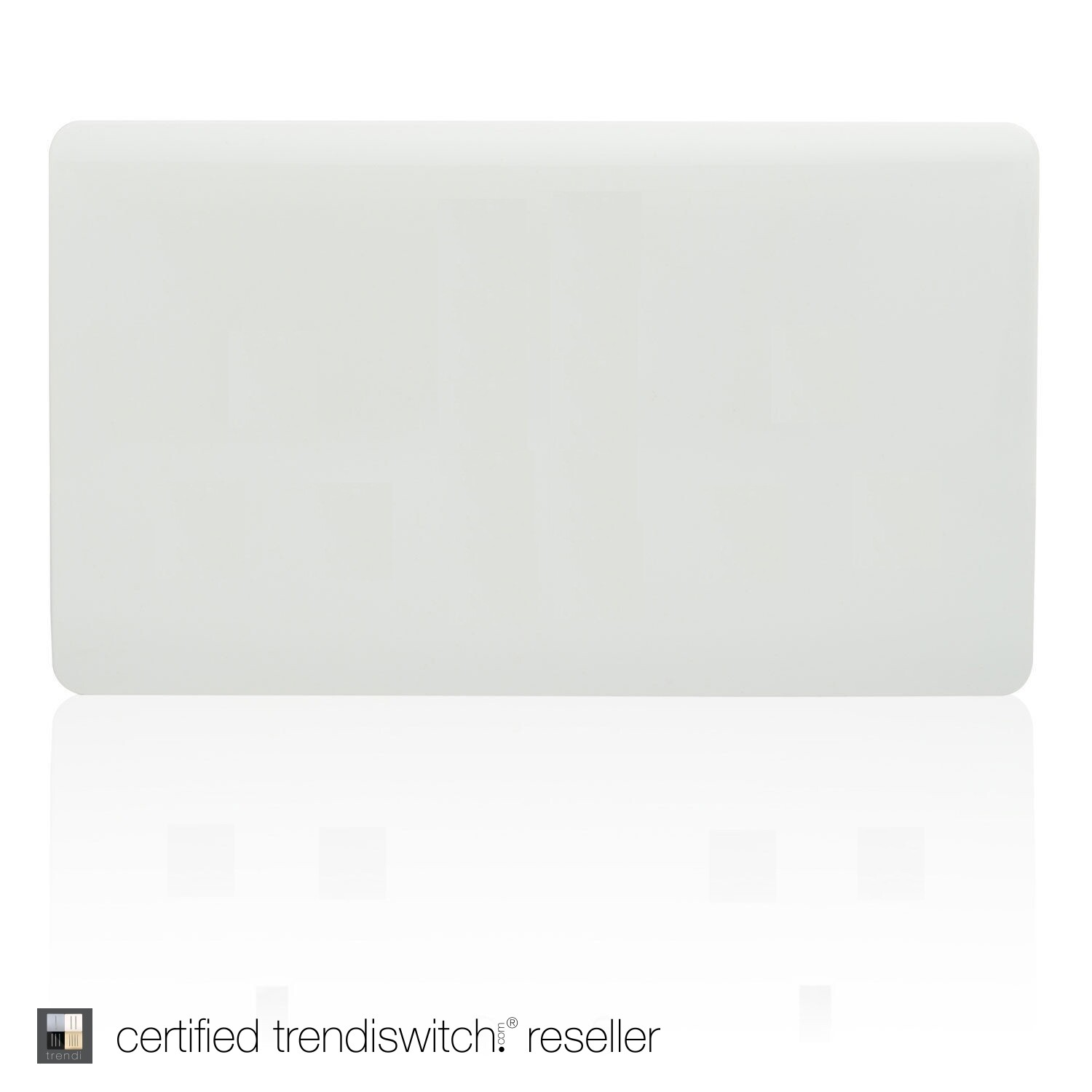 Trendi, Artistic Modern Double Blanking Plate, Gloss White Finish, BRITISH MADE, 5yrs warranty
