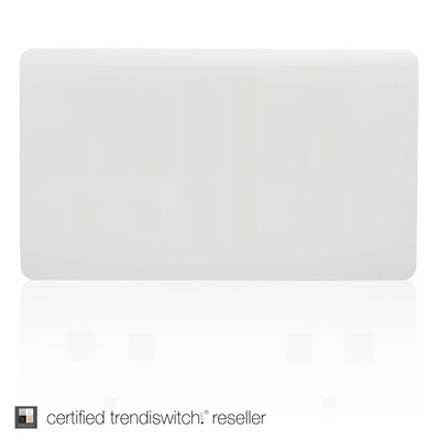 Trendi, Artistic Modern Double Blanking Plate, Gloss White Finish, BRITISH MADE, 5yrs warranty
