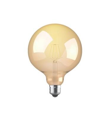 Vintage LED Globe D95 E27 230V 8W 2200K Gold finish