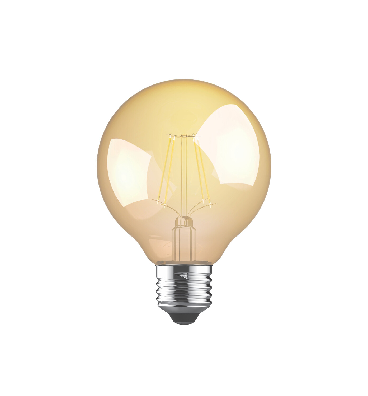 Vintage LED Globe D80 E27 230V 8W 2200K Gold finish