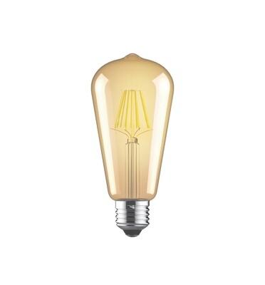 Vintage LED Tip/M E27 230V 6.5W 2200K, 630lm, Amber Finish