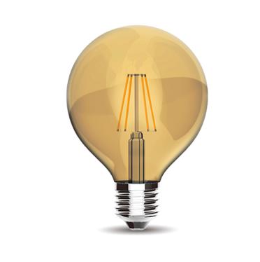 Vintage LED Globe D120 E27 230V 8W 2200K Gold finish