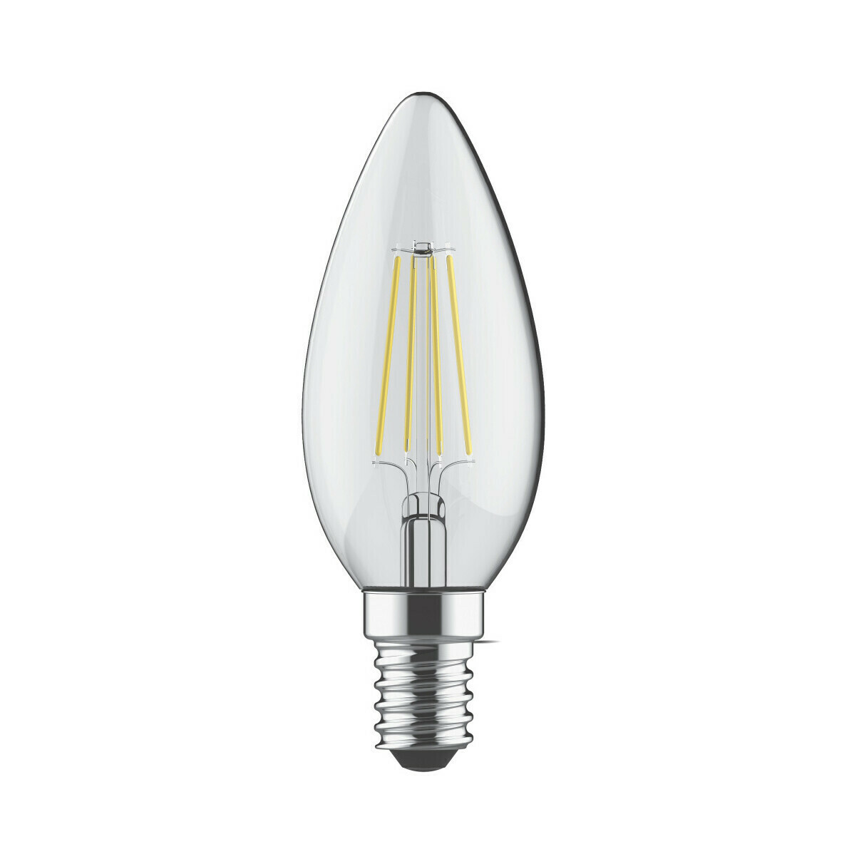 E14-LED filament-C35 4 Watt 4000K (natural white ) 520lm clear
