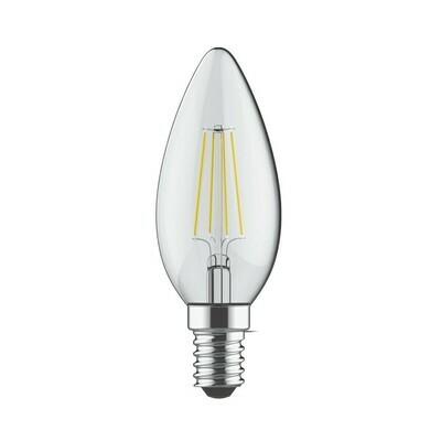 E14-LED filament-C35 4 Watt 4000K (natural white ) 520lm clear