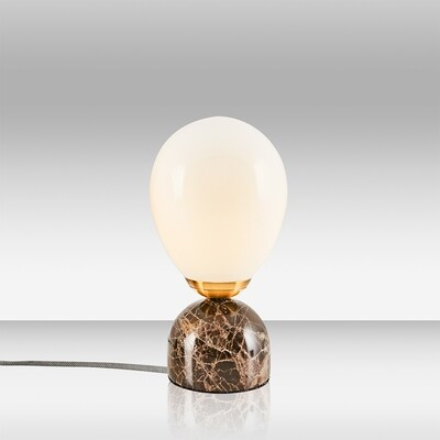 kiara cinco marble table lamp brown