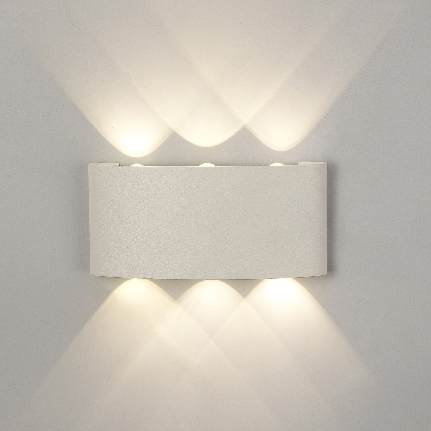 Arcs Wall Lamp, 6W LED, 3000K, 450lm, IP54, Sand White